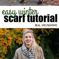 Looking to DIY an easy winter scarf this season? Well, look no further! This Easy Winter Scarf Tutorial is simple to make, looks expensive and will make the best gift idea this winter!