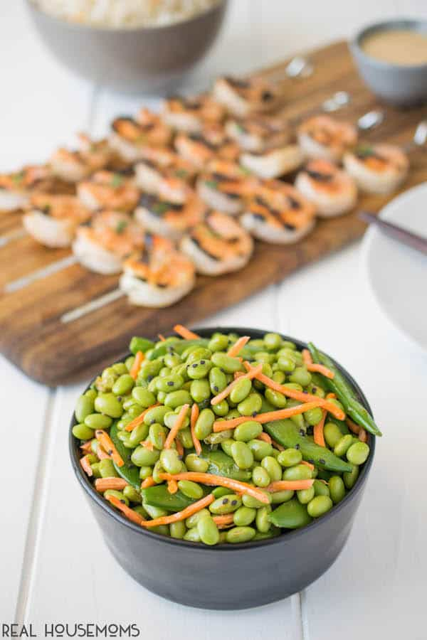 A quick and easy salad or side dish. This EDAMAME SNAP PEA SALAD comes well-dressed in an umami inducing sesame ginger dressing!