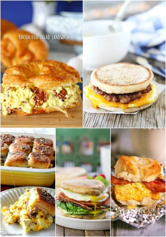 sandwich egg recipes for breakfast