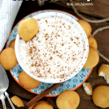 Creamy Eggnog Cheesecake Dip is a fun twist on the classic drink.  Ready in 10 minutes, it's the perfect dessert recipe to serve this holiday season!