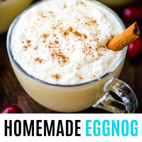 suare image of eggnog with text