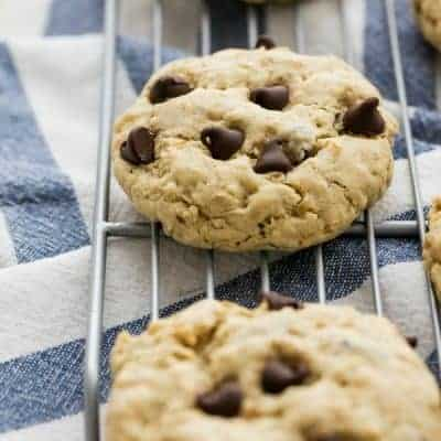 Extra Chewy Oatmeal Chocolate Chip Cookies