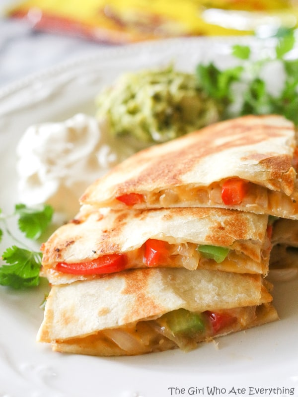Fajita Quesadillas - The Girl Who Ate Everything