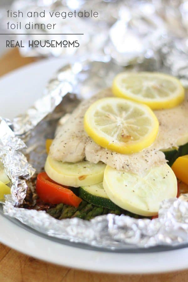 Fish and Vegetable Foil Dinner - Real Housemoms