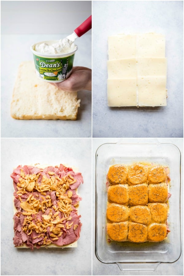 steps to make dean's french onion dip roast beef sliders
