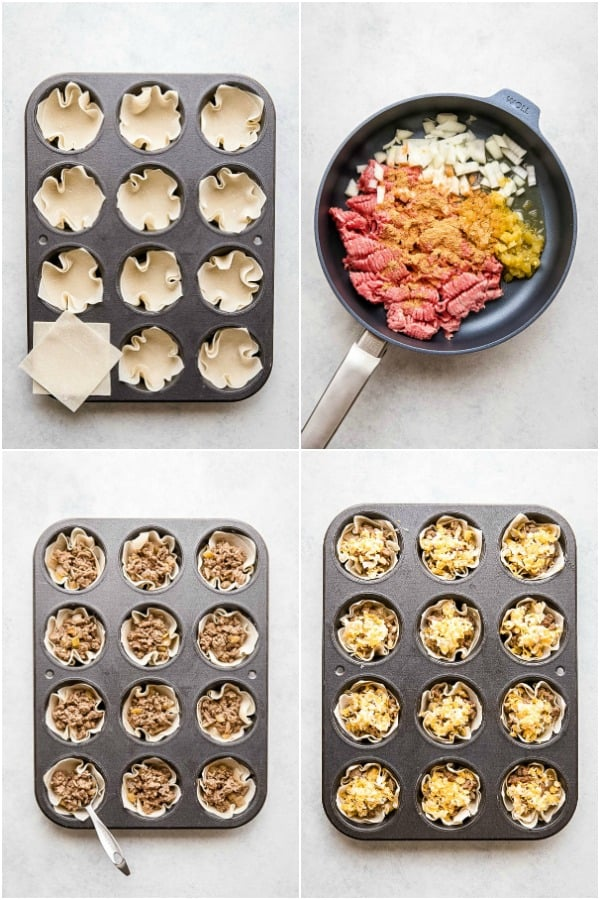 steps to make taco cups