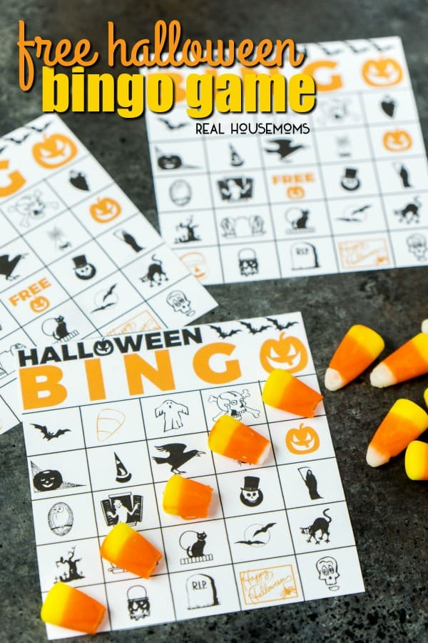 This Free Printable Halloween Bingo Game is fun for kids and adults! Simply print out the cards and see who can be the first to match five Halloween icons across in a row!