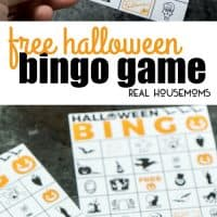 This printable Halloween bingo game is fun for kids and adults! Simply print out the cards and see who can be the first to match five Halloween icons across in a row!