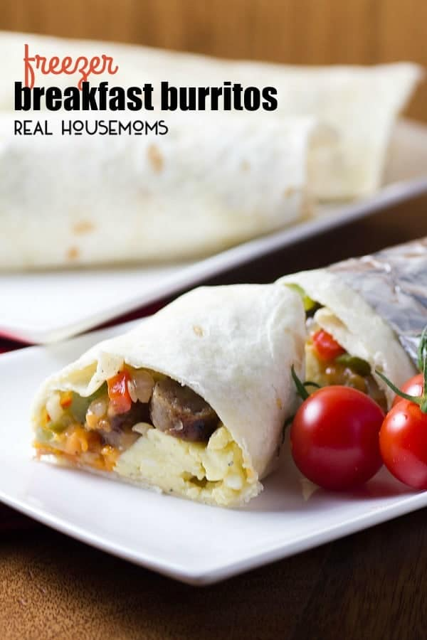 Do you all feel you are running in different directions when it comes to breakfast on school days? Make you kids a healthy FREEZER BREAKFAST BURRITO, and you'll know that they are starting their day off on the right foot!