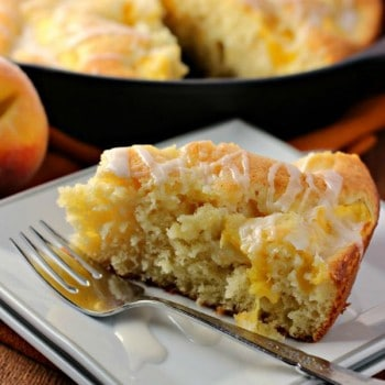 Fresh Peach Yogurt Cake