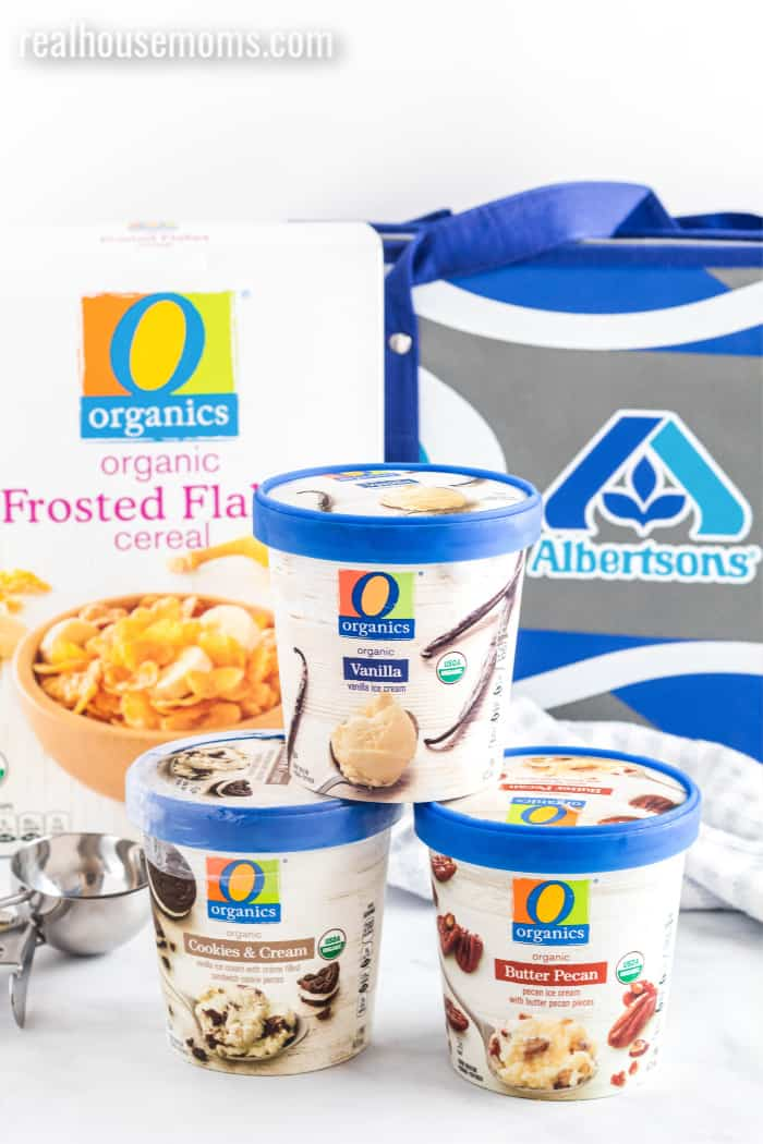 O Organics ingredients for fried ice cream
