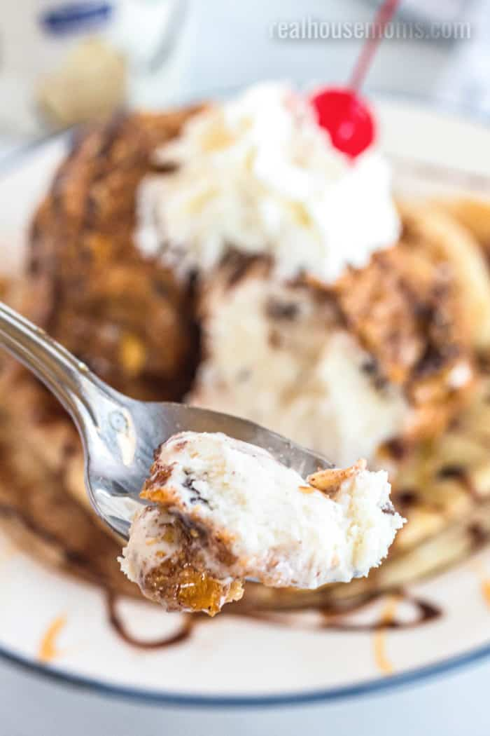 a spoonful of fried ice cream