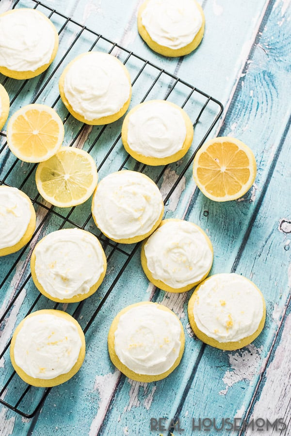 These soft FROSTED LEMON COOKIES are the perfect way to welcome in spring. The tangy lemon frosting takes them over the top!