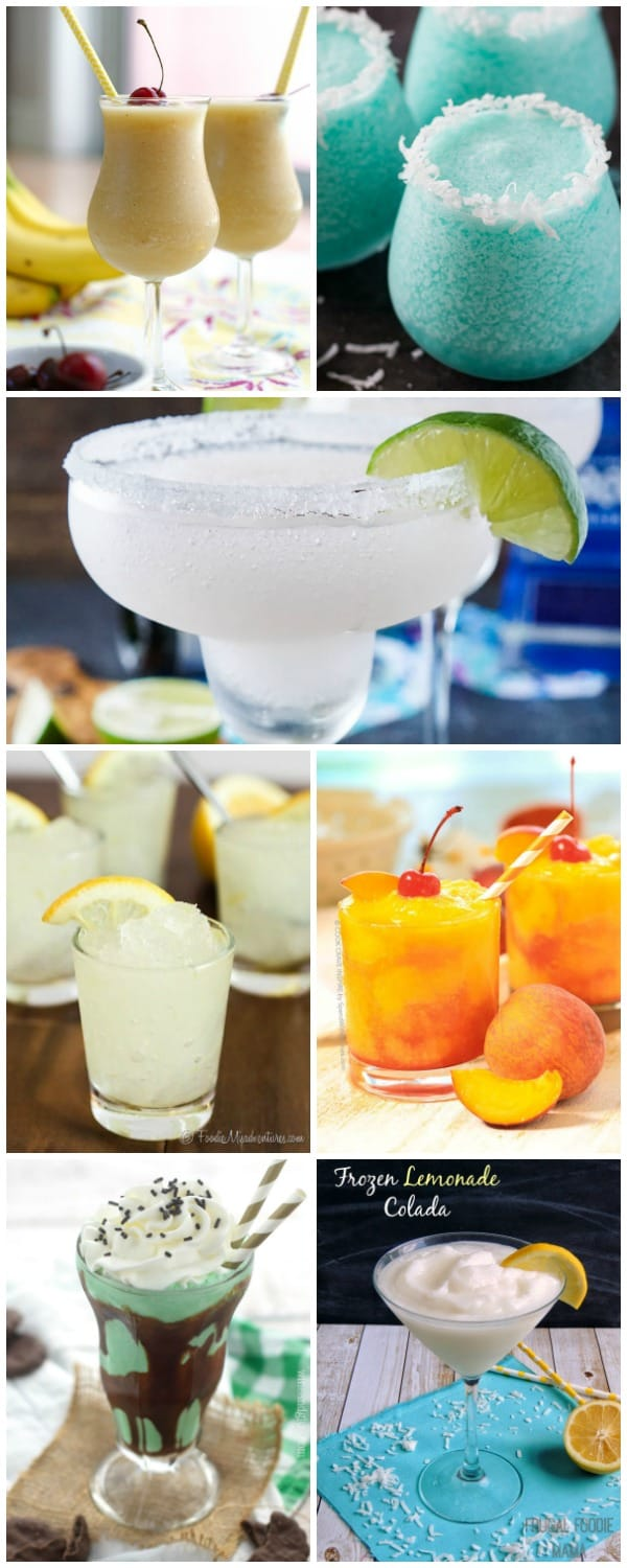 Don't let the summer temperatures get you down! We've rounded up 25 FROZEN DRINKS TO BEAT THE HEAT that everyone in the family will love!