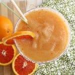 Frozen Peach and Cara Cara Orange Margarita