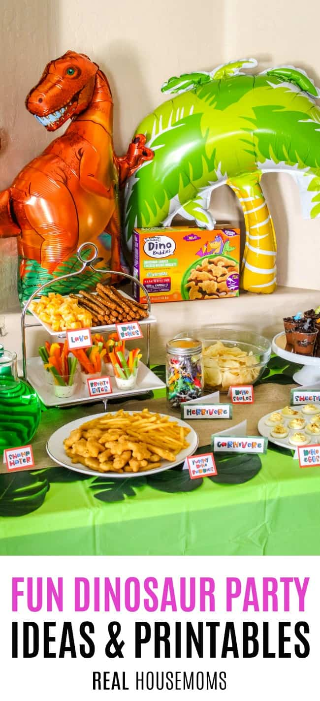 dinosaur party food table