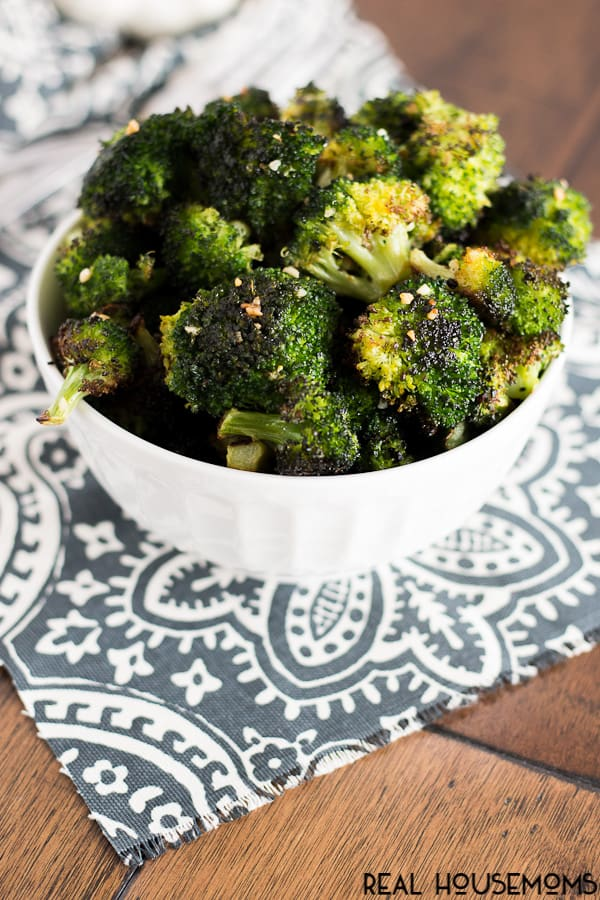This simple and delicious GARLIC ROASTED BROCCOLI is easy to throw together and makes the perfect side dish for any meal!