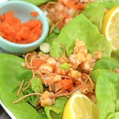 Ginger Shrimp Lettuce Wraps