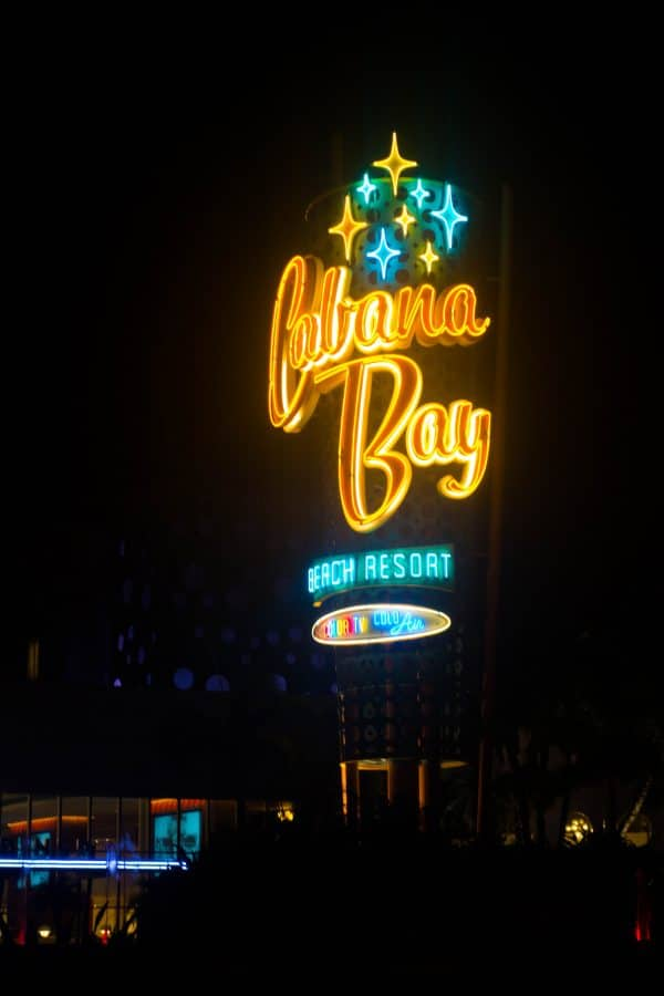 Universal Studios Cabana Bay Beach Resort Sign