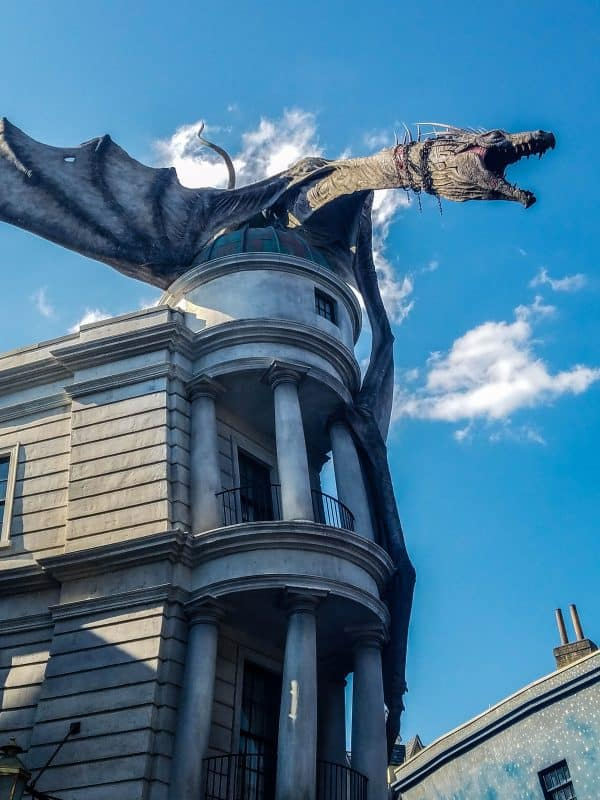 Universal Studios Wizarding World of Harry Potter Dragon on Gringots