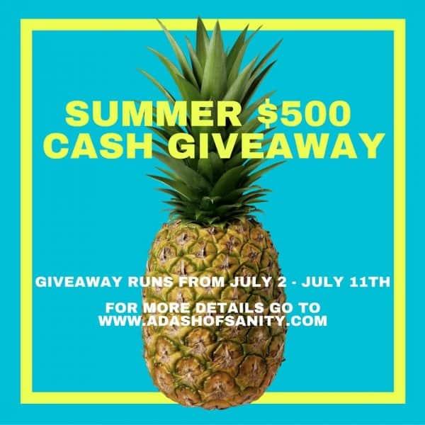 Summer Cash Giveaway!!!
