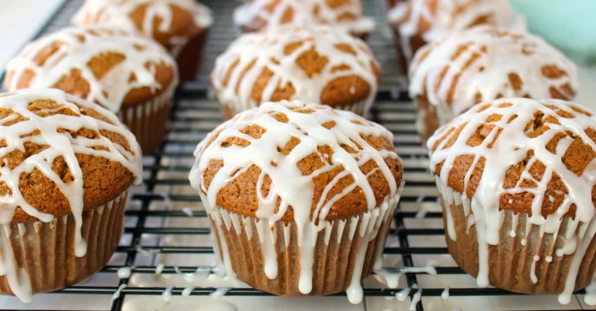 Glazed Gingerbread Muffins ⋆ Real Housemoms