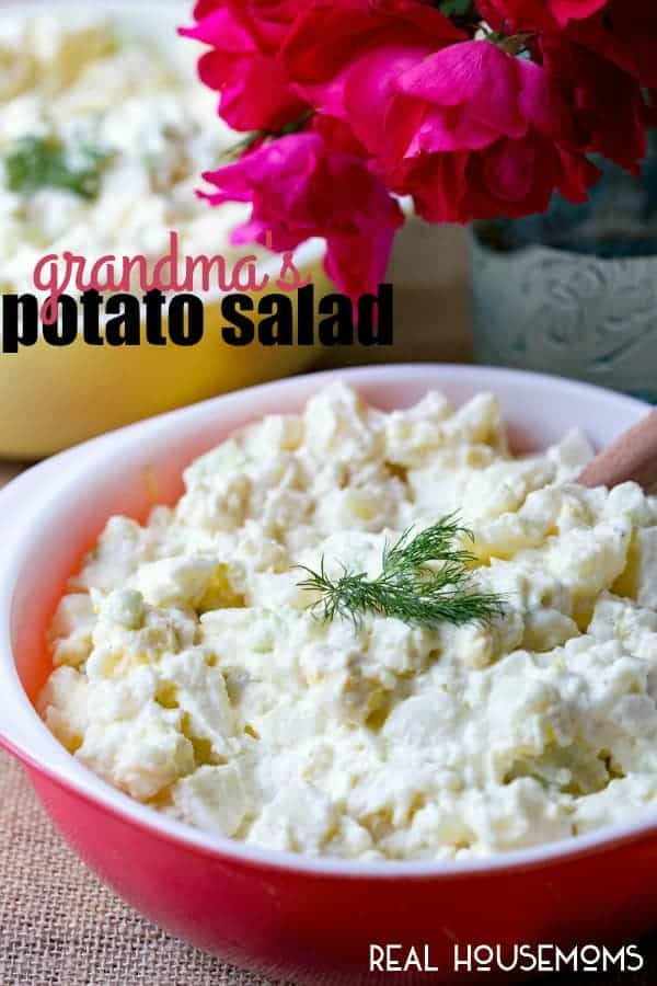 Grandma's Potato Salad is a recipe straight from my beautiful Grandma! It's an easy side dish that is perfect for entertaining!