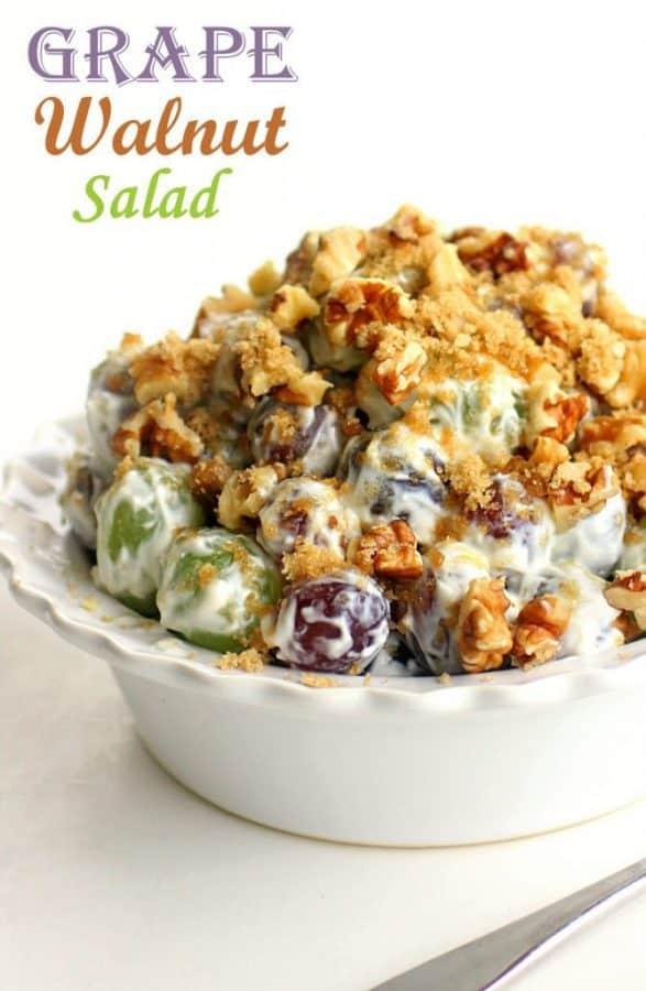 Grape Walnut Salad - The Girl Who Ate Everything