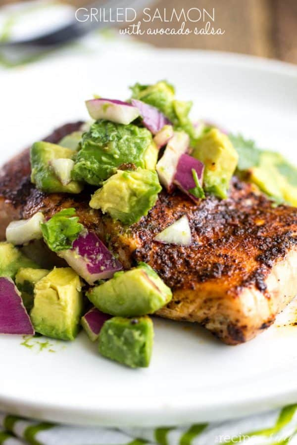 Grilled Salmon with Avocado Salsa - The Recipe Critic