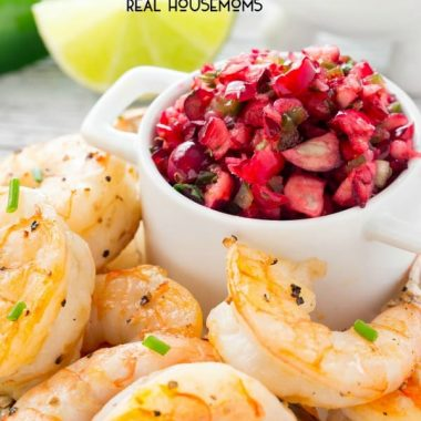 Grilled Shrimp with Cranberry Salsa