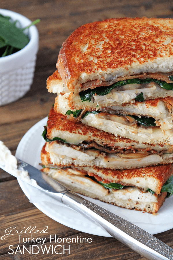 Grilled Turkey Florentine Sandwich - The Recipe Critic