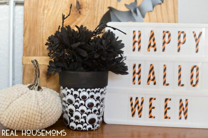 For fun decor that is sure to catch your eye, make a HALLOWEEN GOOGLY EYE PLANTER!y Eye Planter | Real Housemoms