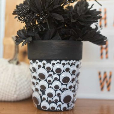 For fun decor that is sure to catch your eye, make a HALLOWEEN GOOGLY EYE PLANTER!