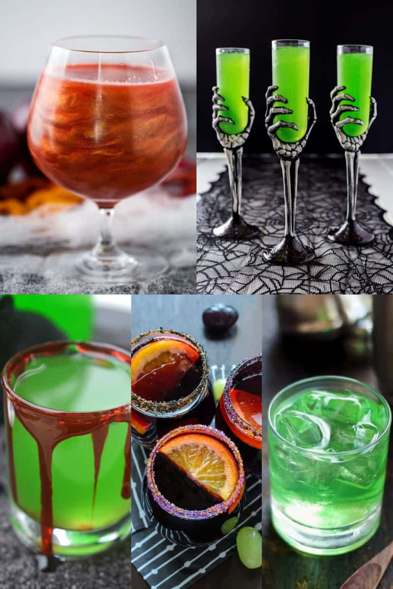 New Purple Halloween Skeleton Hands /& Test Tube Shot champagne Drink Glasses