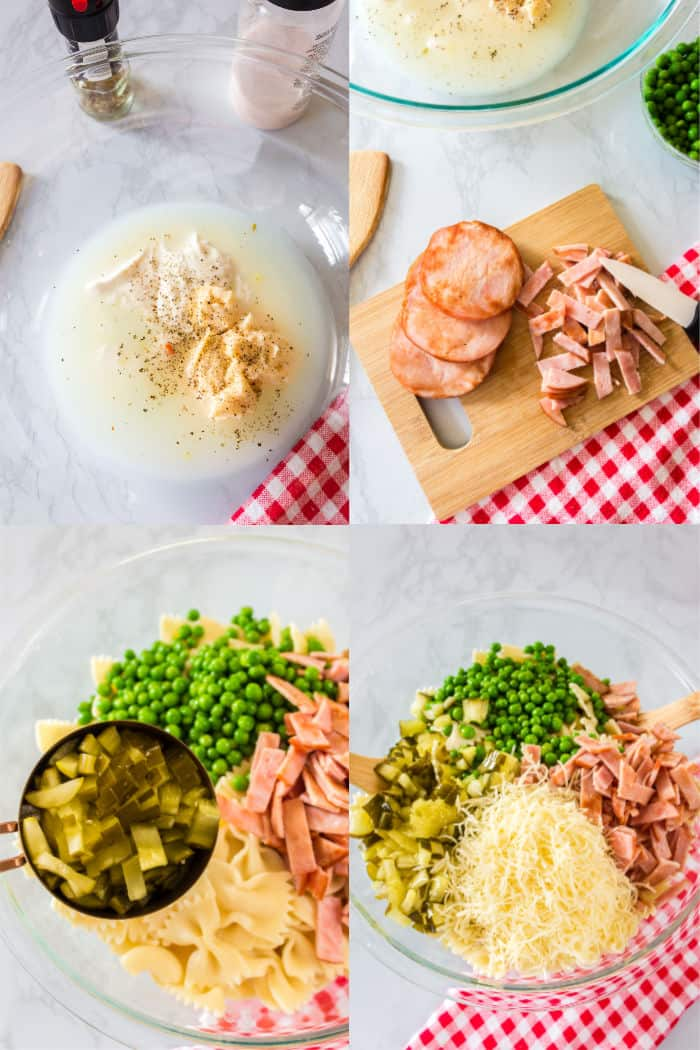 how to make creamy ham & cheese pasta salad