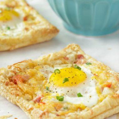 Ham and Cheese Egg Pastry Tart