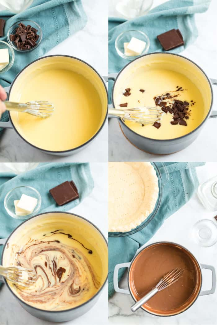 steps to make chocolate cream pie filling