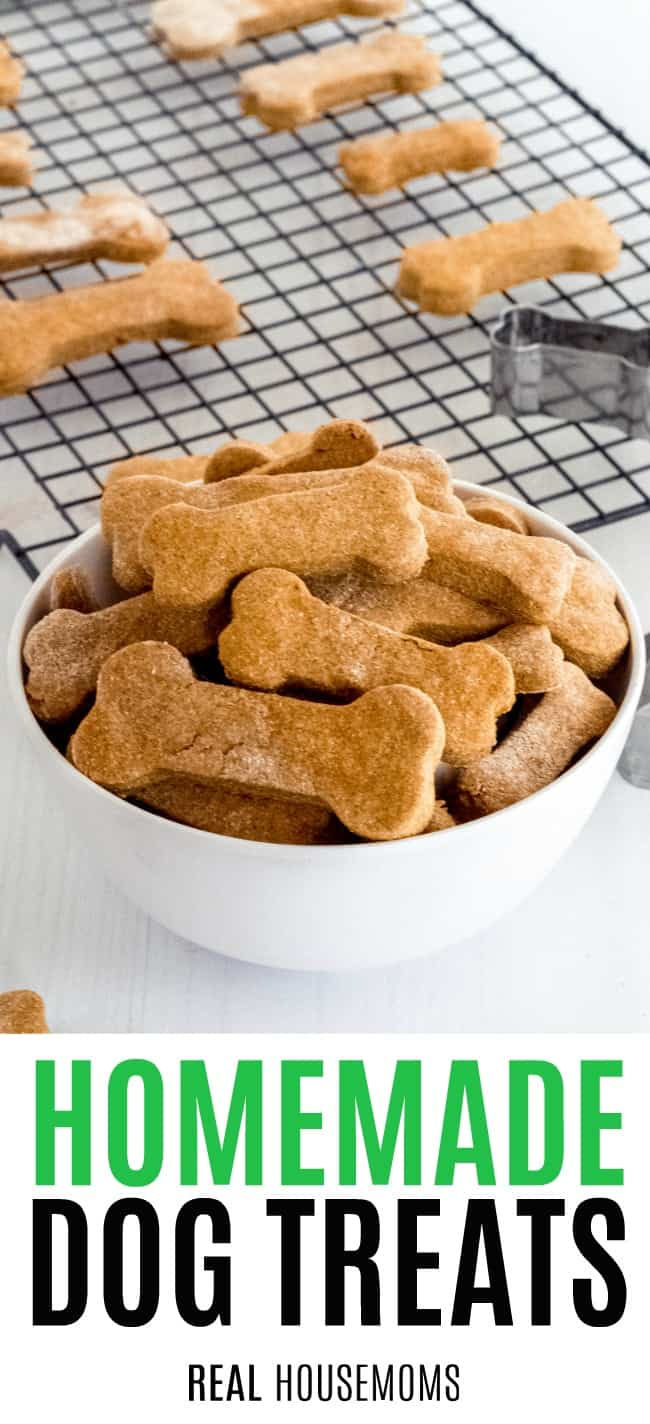 homemade dog treats in a bowl