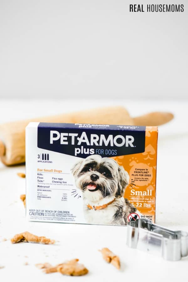 petarmor plus with dog treat dough and cookie cutter