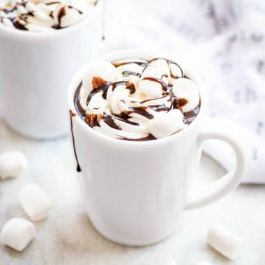 Homemade Hot Chocolate is creamy, smooth and easy to make. Serve with whipped cream and marshmallows, for the ultimate winter treat!