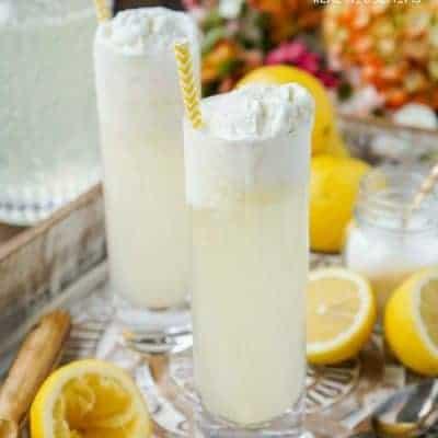 Homemade Lemonade Floats