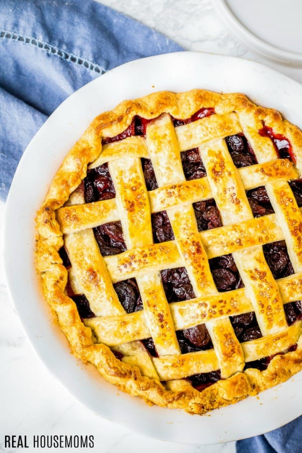 baked pie with golden crust