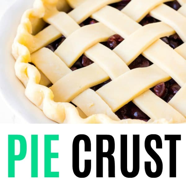 square image of pie crust with text