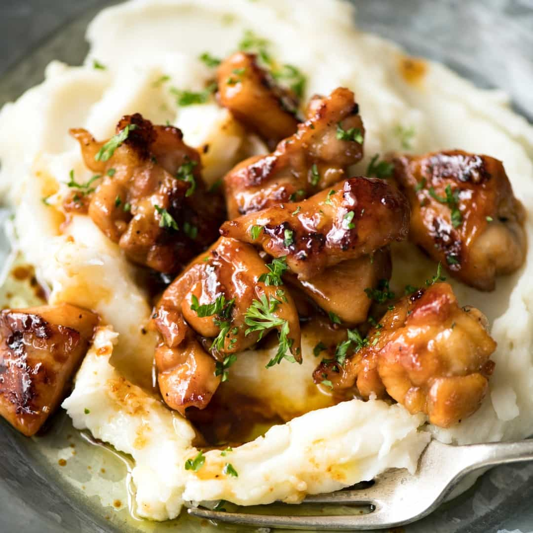 This Honey Butter Chicken is EPIC!!! Crazy quick and easy to make, I like making this with bite-size pieces to maximize the surface area that is caramelized in the stunning sauce!