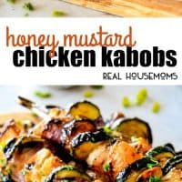 These easy Honey Mustard Chicken Kabobs are so juicy and exploding with flavor in every mouthwatering bite! Quite possibly the most delectable chicken kabobs you will ever eat and bonus they can be grilled or baked!