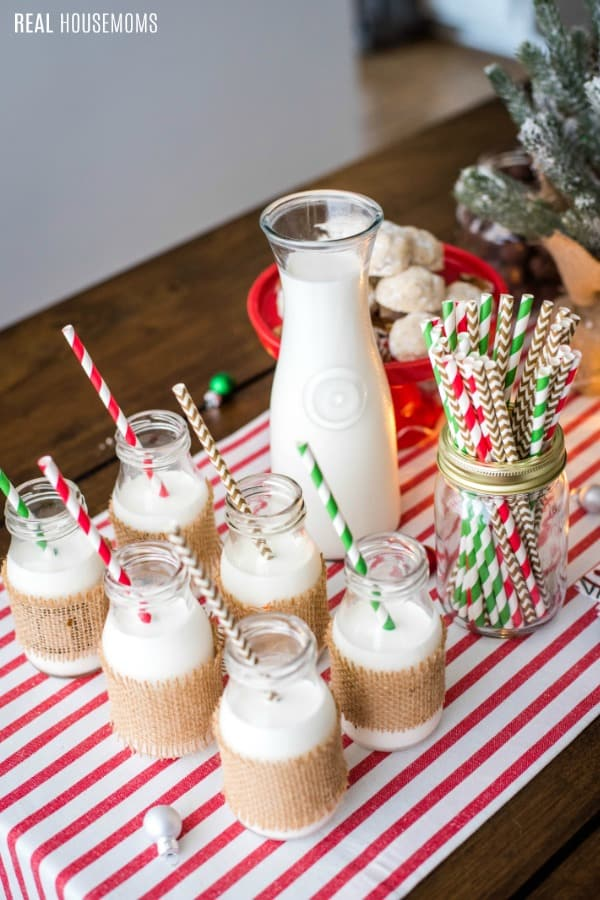 milk bar set up for a christmas cookie exchange