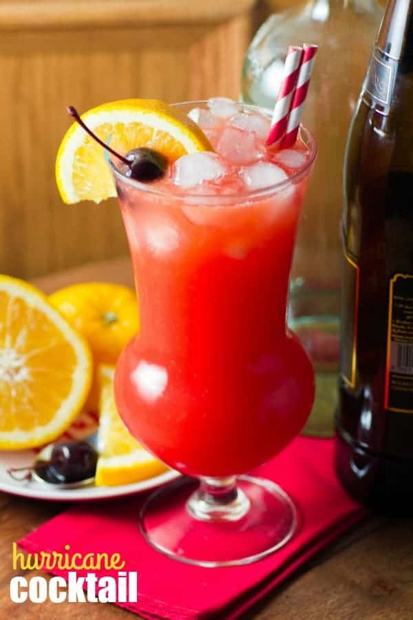 Need to add a little life to the party? This wonderful HURRICANE COCKTAIL will surely do it!