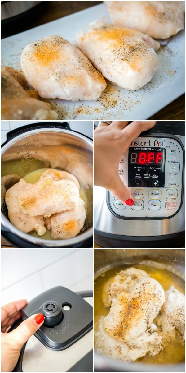 steps to cooking chicken breast in instant pot