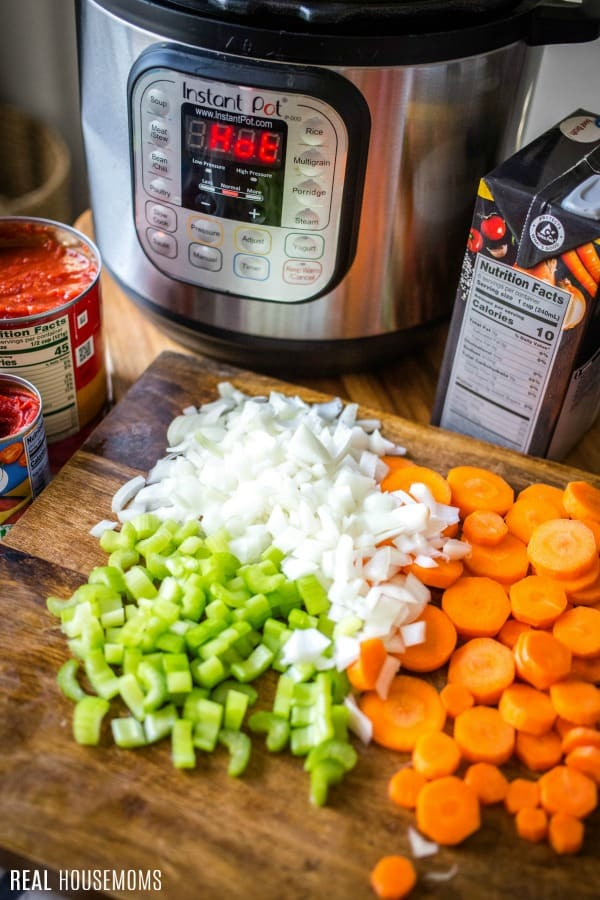 ingredients to make instant pot meatball soup