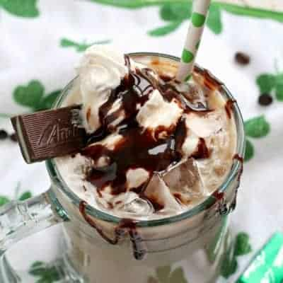 Irish Cream & Mint Iced Mocha